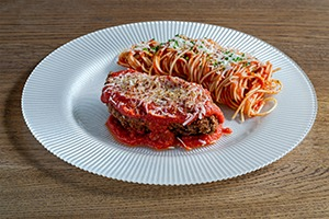 Main Course - Chicken Parmigiana with Spaghetti in Napoli sauce