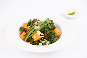 Salads - Roasted butternut squash, kale, string beans, pomegranates with tahini dressing